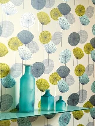 Buy Sanderson Dandelion Clocks Wallpaper, DOPWDA104, Chaffinch | John Lewis