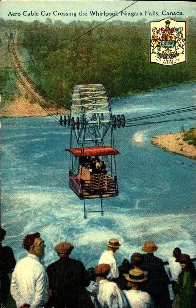 NIAGARA FALLS CANADA, Spanish Aero Cable Car, Color Vintage Postcard CAN903479