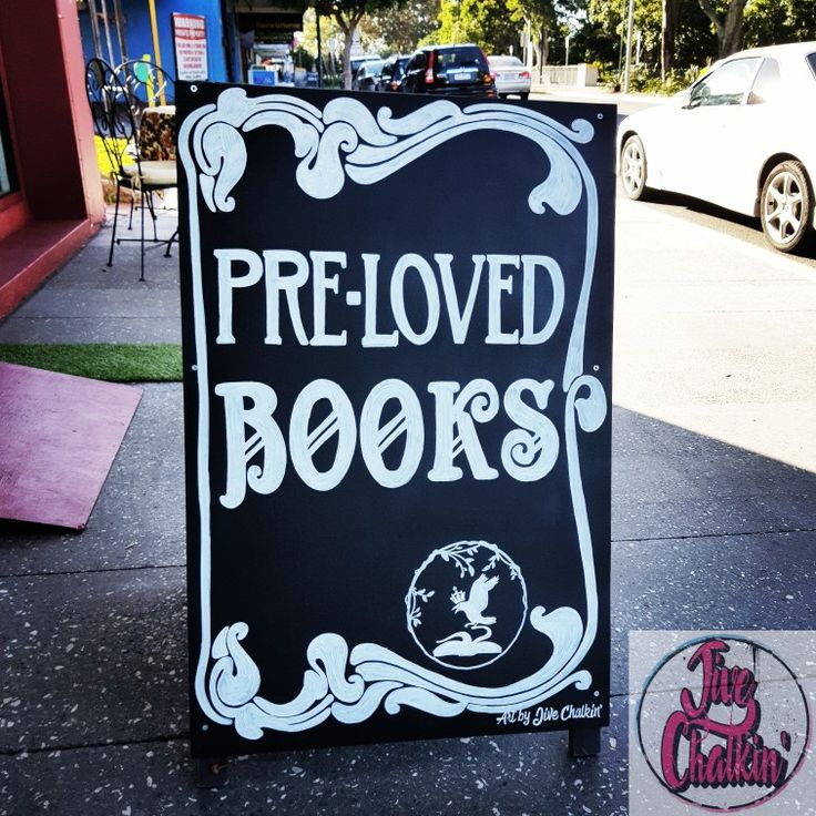 A pre-loved bookshop in Redcliffe got this A-frame makeover. New sheet metal panels installed with custom chalk art.