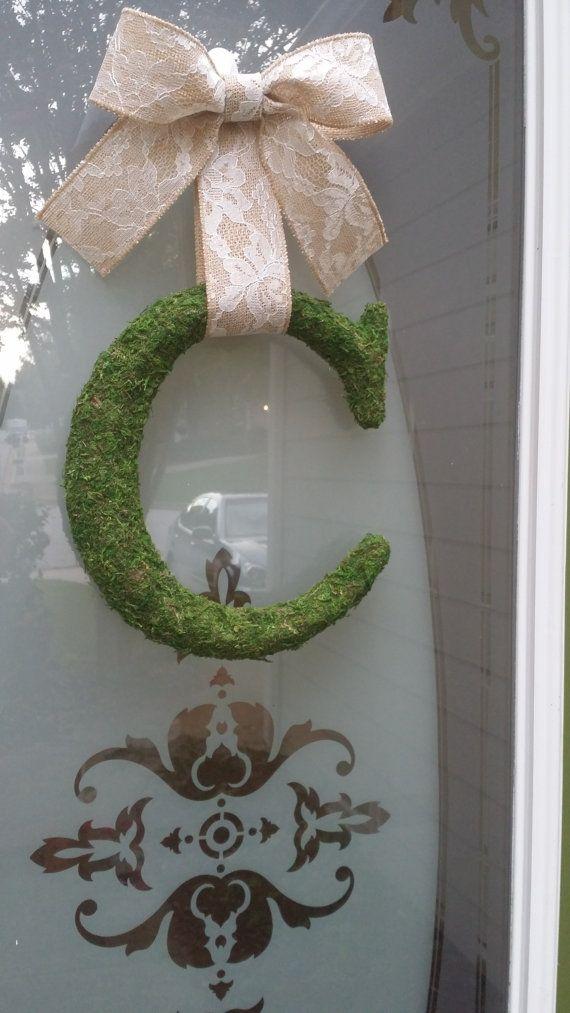 Moss Letter Monogram C u0026 or Any