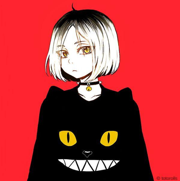 Kenma + cat sweatshirt - Haikyuu! http://amzn.to/2k2HTMQ