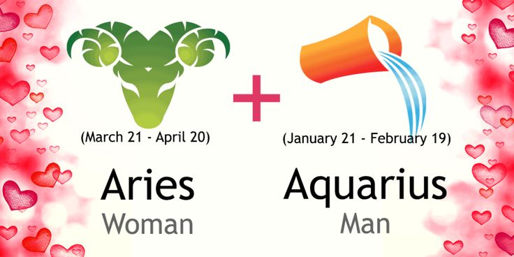 Love match compatibility between Aries woman and Aquarius man. Read about the Aries female love relationship with Aquarius male.