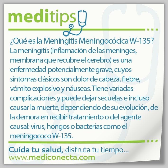 ¿Qué es la Meningitis Meningocócica W-135?