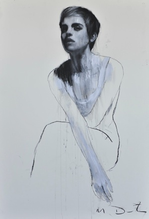"""""""Emma 4"""" by Mark Demsteader. As part of a series he did with Emma Watson for a charity event. Pastel and collage.: Series, Pastel, Artist Mark Demsteader Art, Emma Watson, Collage, Markdemsteader, Painting, Drawing, Art Demsteader Mark"""