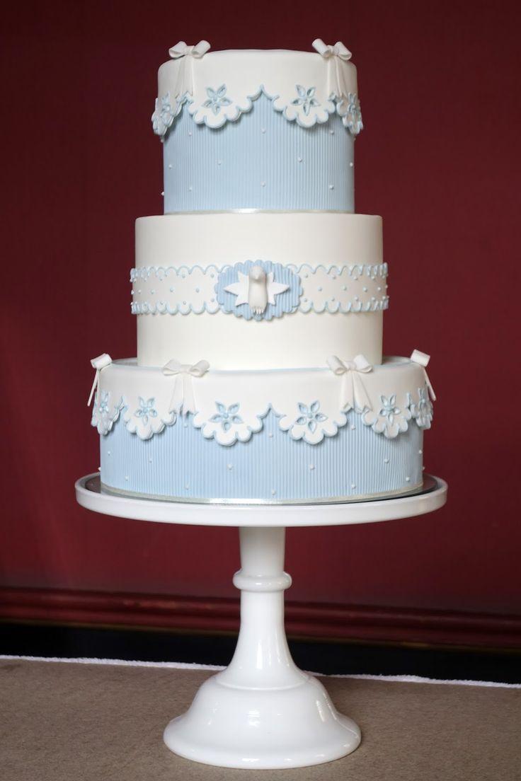 Cupcake: azul e branco