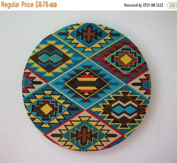 SALE - Mouse Pad mousepad / Mat - Rectangle or round - Aztec Southwestern Native Tribal Print coworker friend gift desk office accessory