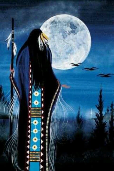 Evening Star Woman by Betty Albert (Cree Nation)