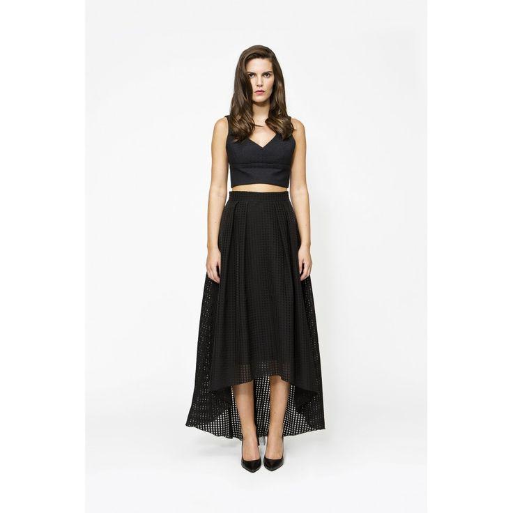 Falda tail hem - Estalot www.estalot.com #falda #skirt #ss16 #style #estalot