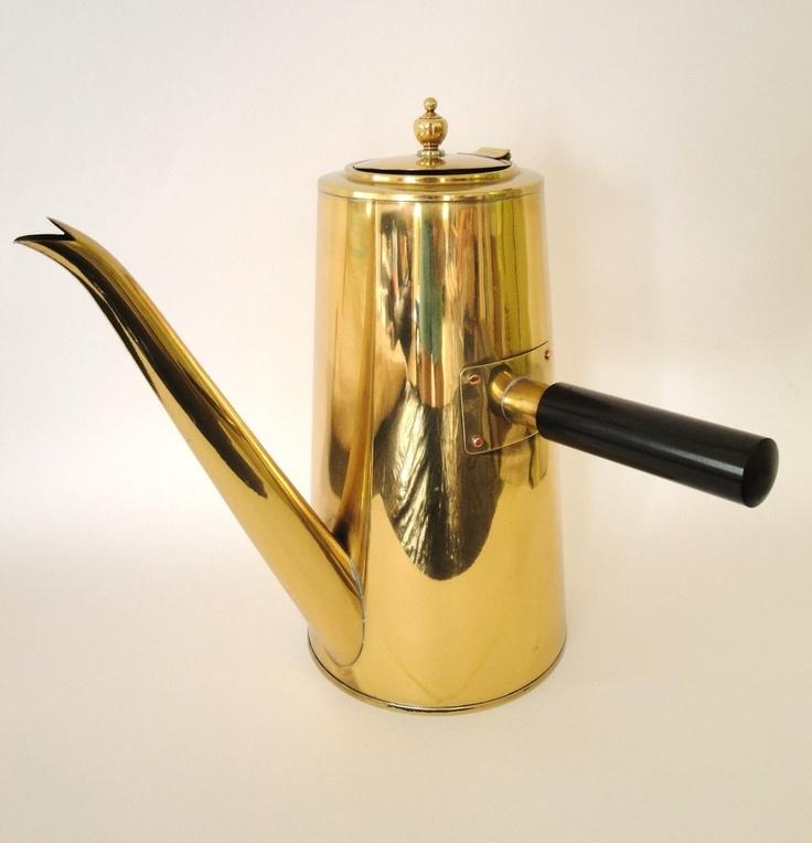 Vintage Brass Coffee Pot