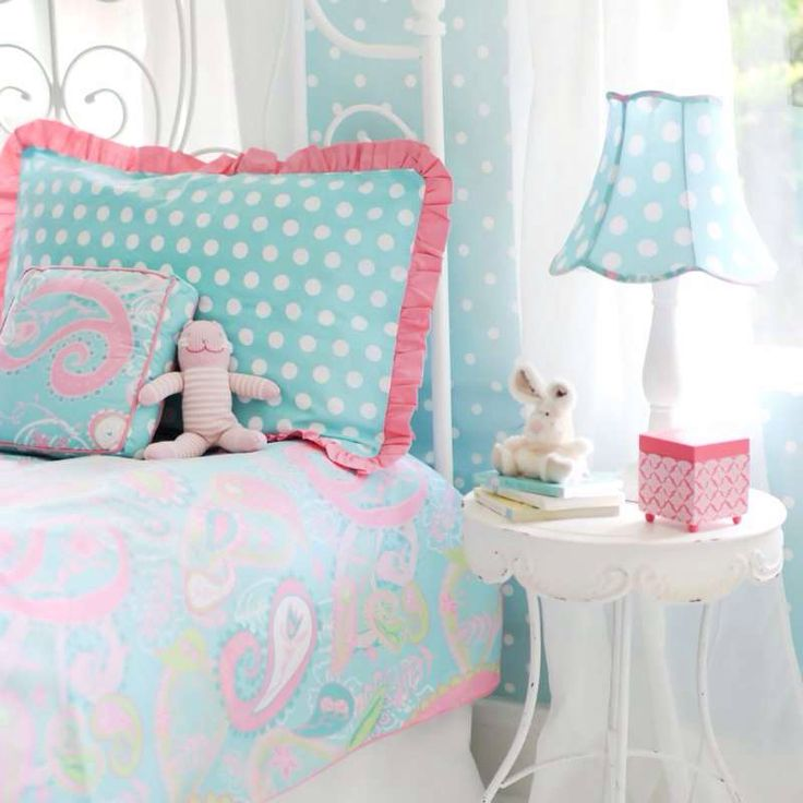 Aqua And Pink Bedroom Ideas: 15 Best Aqua And Pink Crib Bedding Images On Pinterest