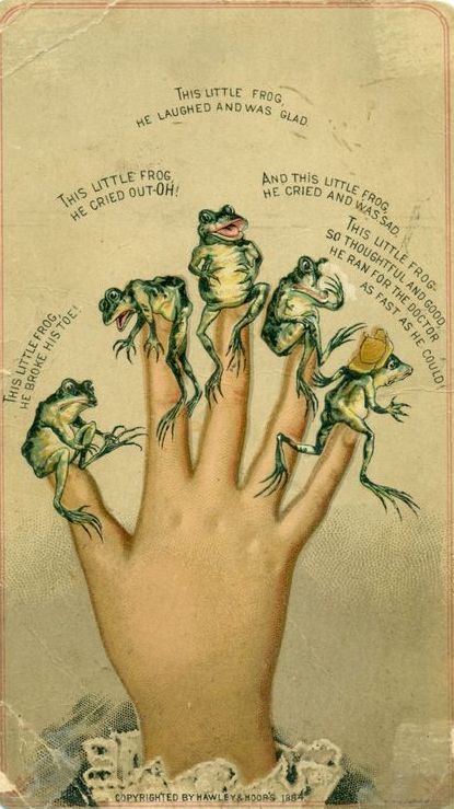 This little frog rhyme... #hands #fingers #mani #main #rana - Carefully selected by GORGONIA www.gorgonia.it