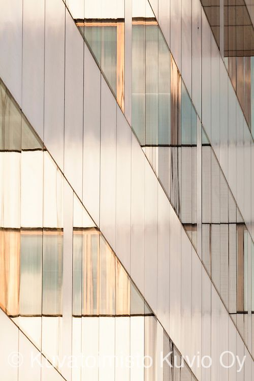 Glass and steel. Tapiola HQ, Finland. Designed by SARC Architects.