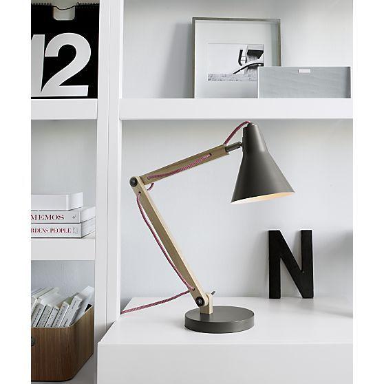 Rex Grey Task Lamp in Table Desk Lamps – Crate and Barrel Desk Lamp