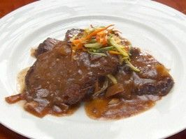 Sauerbraten with Julienne Vegetables