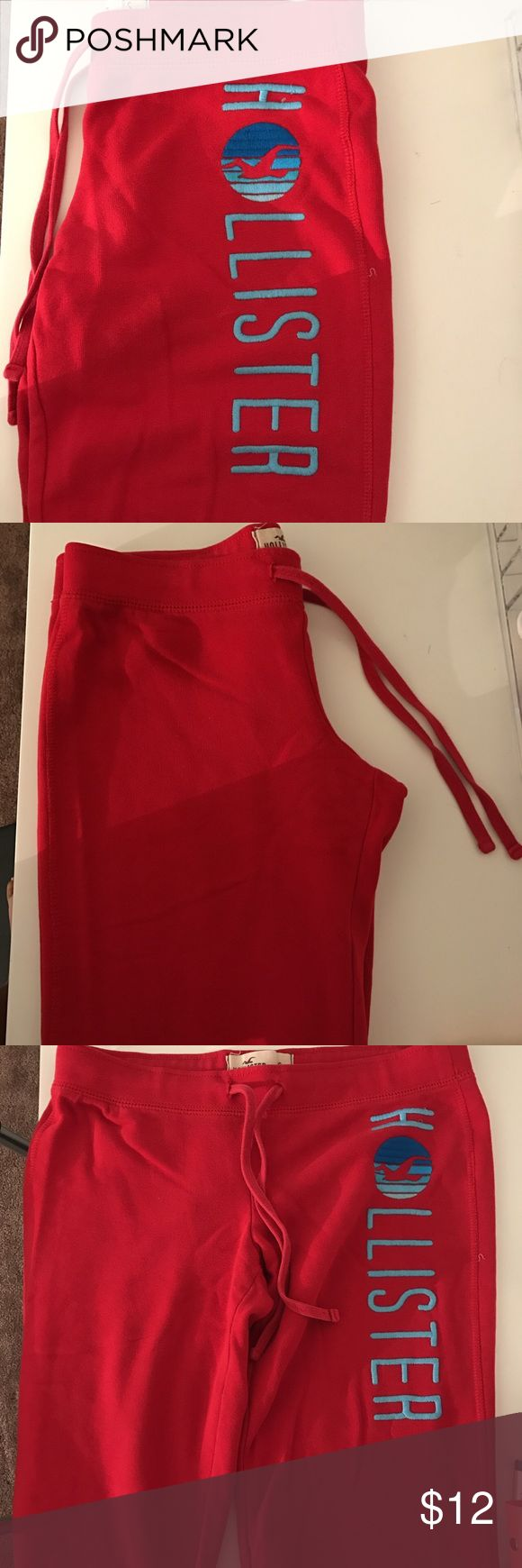 Hollister sweats Good condition #hollister #cute #red #sweats #comfy #cheap Hollister Pants Track Pants & Joggers