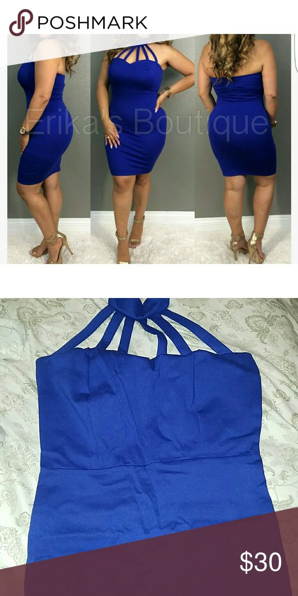 Blue night out dress Stretchy. New. Not see through. Perfect for a night out. Must go! Dresses