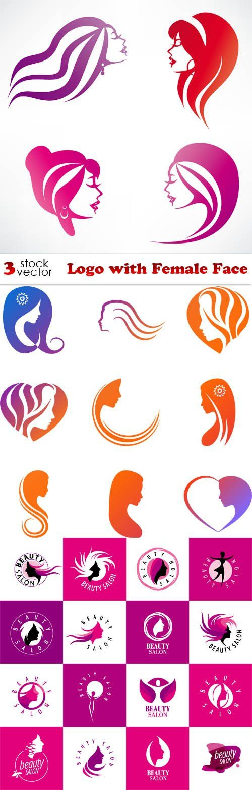 Vectors - Logo with Female Face