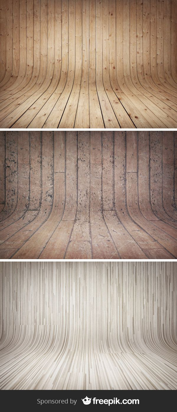 3 Curved Wooden Backdrops Vol.2 | GraphicBurger