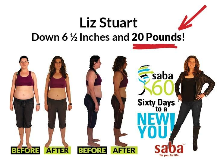 """Lia lost 6 1/2"""" and 20 POUNDS on the Saba 60 Program !  Just 60 Days To A New You !!! Feel Great ! Lose Weight ! Participants who enter Contest have a chance to WIN $1,000  $1,5000  $2,500 !!!  Now click this pic get YOUR kit TODAY ! I'll also send you a FREE tape measure + a FREE Personalized Bling Water Bottle !"""