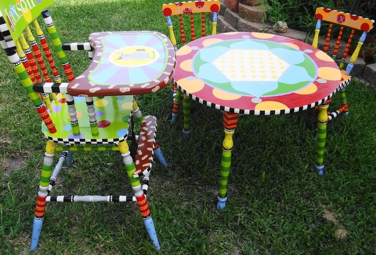 A Custom Painted High Chair Just For You. $495.00, via Etsy.