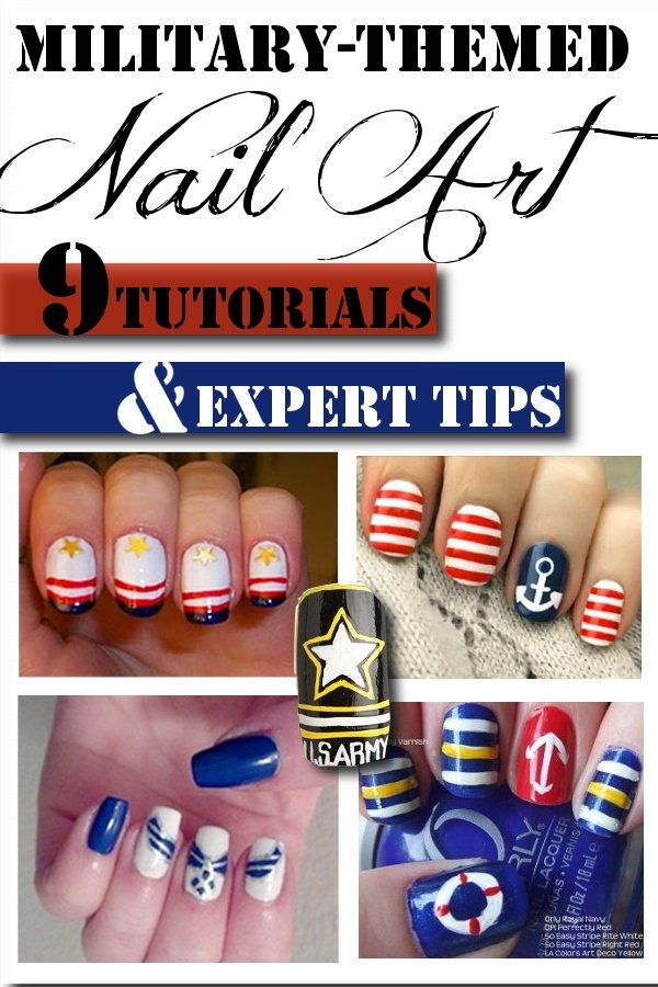 Tutorials, Expert Tips, Ideas and more for some awesome military inspired nails!