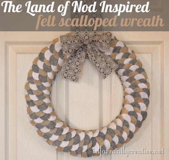 Felt Wreath {Land of Nod Inspired}