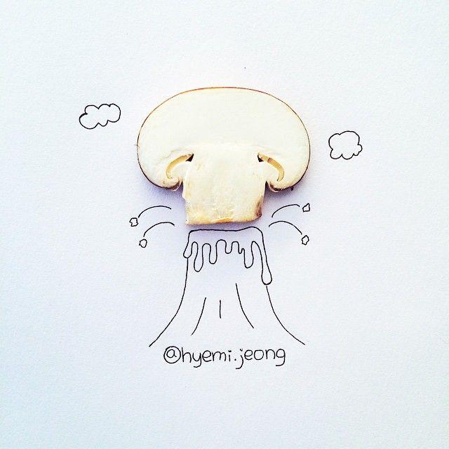 #volcano #mushroom #section #outburst #huge #smoke #cloud #drawing #illustration #art #sketch #hobby #화산 #버섯 #단면 #폭발 #연기 #일러스트 #손그림 #미술 #취미 #스케치