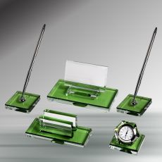 Yeşil Kristal Masa Seti
