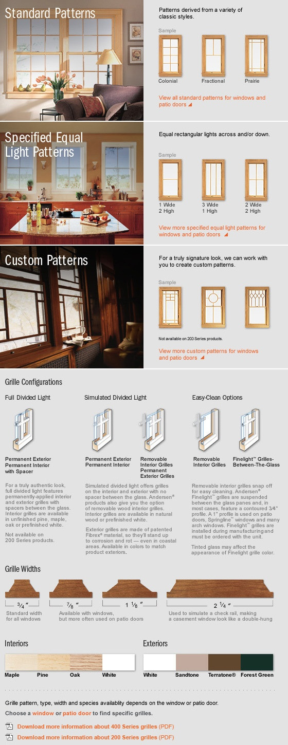 Anderson windows andersen windows - With Custom Grills From Andersen You Can Create Windows That Reflect Your Own Personal Style