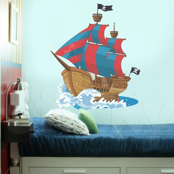 Fabric wall sticker PIRATE'S SHIP by Sticky!!!