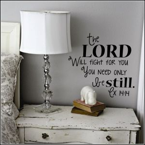 Exodus 14:14 The Lord Will Fight for You   Genesis Exodus Leviticus Numbers Christian Wall Decals