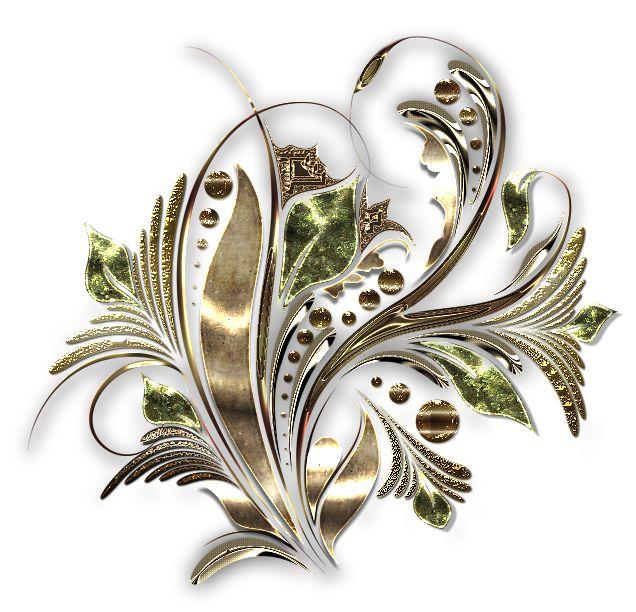 Ornamenty zlaté 6 | Tvoření
