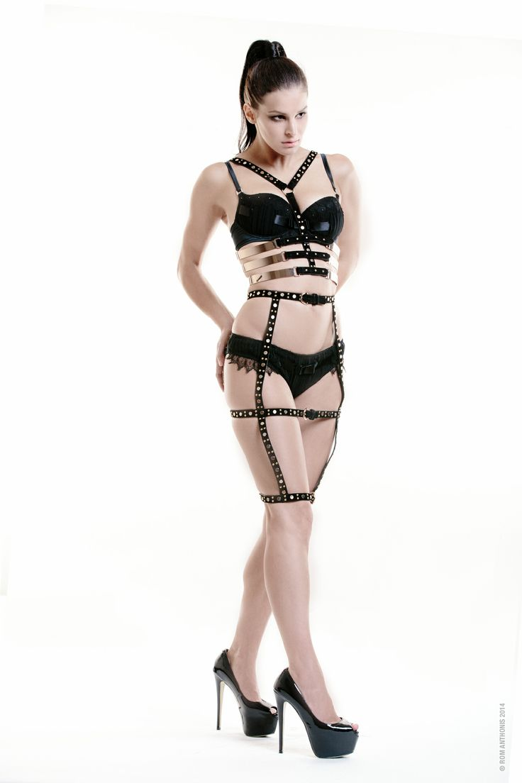 Lady Bellentina Skirt 4 silhouette with metal rib cage harness Lingerie by Pleasure state couture  http://instagram.com/bellentina http://www.facebook.com/ladybellentina