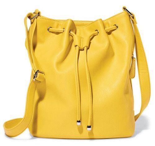 Drawstring-Hobo-Bag #yellow #hobo #bag