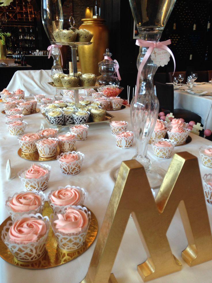 Elegant baby Girl Baptism -candy -cupcakes -Cakepops -cookies -strawberries -chocolate