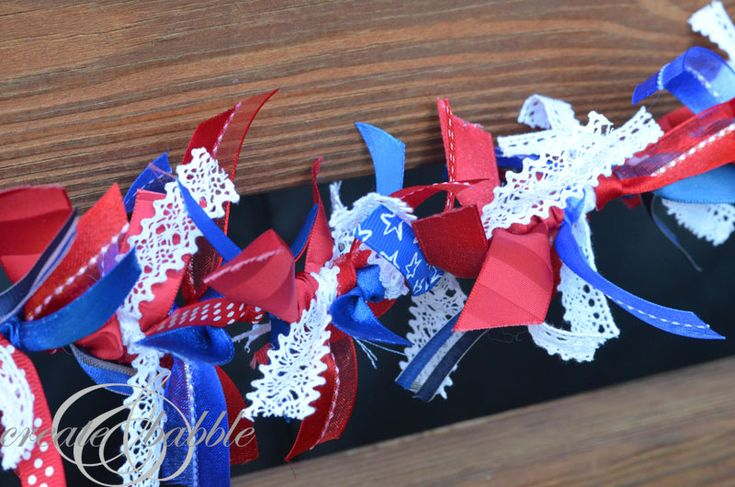 Red, White, and Blue Ribbon Garland
