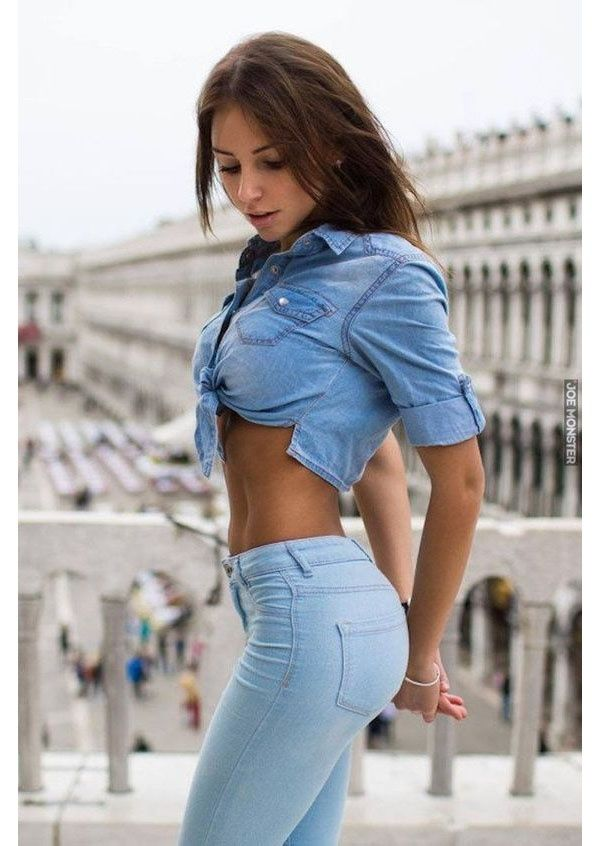 sexy girls wearing tight jeans