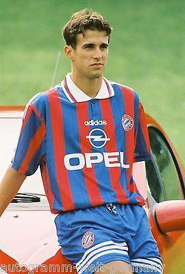 Mehmet Scholl Bayern München 1995-96 seltenes Foto+2