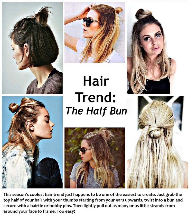 The easiest hair trend of 2015 over on What Would Karl Do http://whatwouldkarldo.com/messy-half-bun/