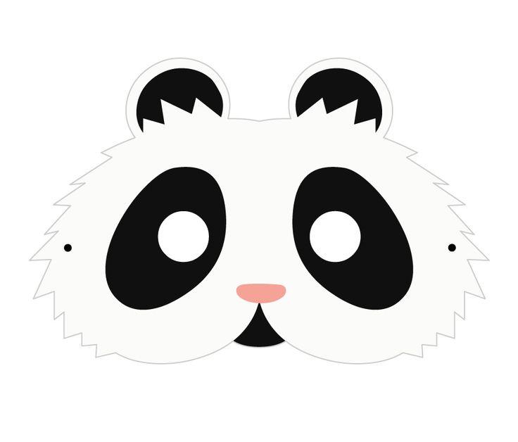 #Lactease ti regala gli animali della giungla! Stampa e ritaglia il PANDA  ---> ow.ly/Jk5pK  #maschera #carnevale