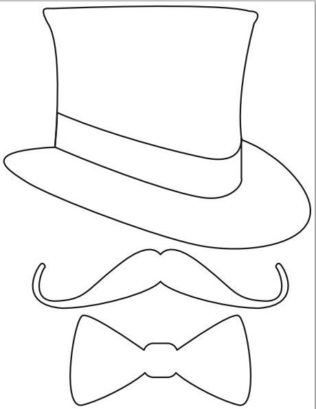 Printable nat bow mustaches