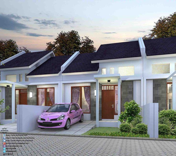 Desain Perumahan Minimalis Perumahan Graha Purwosari Regency - Type 36 3D View