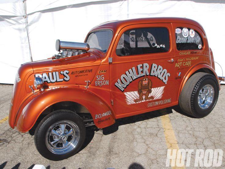 ANGLIA hot rod rods retro drag racing race gasser        d
