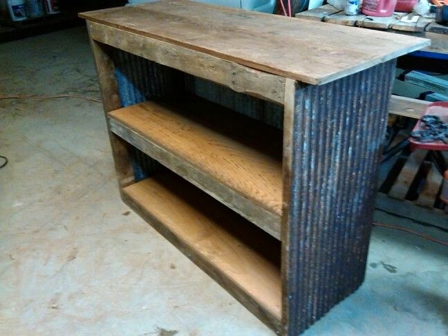 Rustic barnwood tin bar stuff i have made pinterest for Rustic outdoor bar ideas