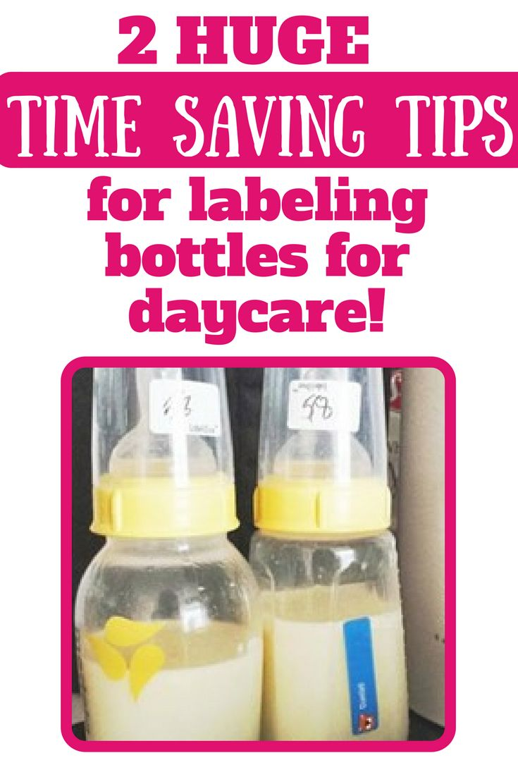 This is the MOST efficient way to to label your baby's bottles for daycare!! So much time and headache saved! The best solution for daycare bottle labels!