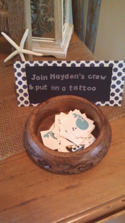temporary tattoos, for a pirate theme party