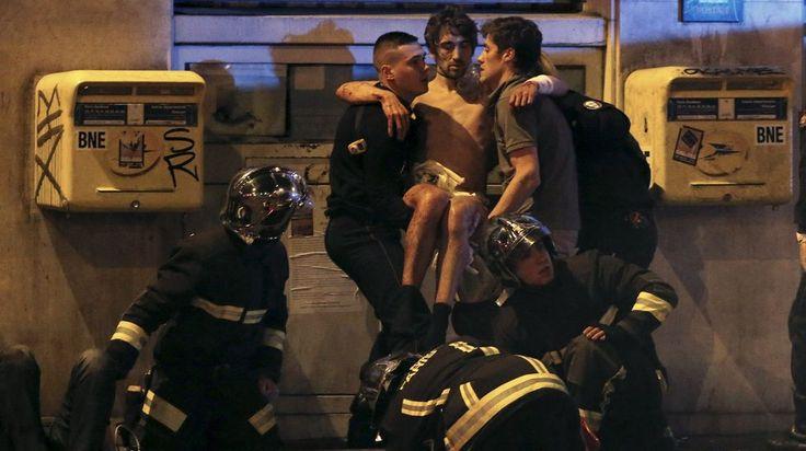 Ataques terroristas del 13 de noviembre en París. Herido en la sala Bataclan.