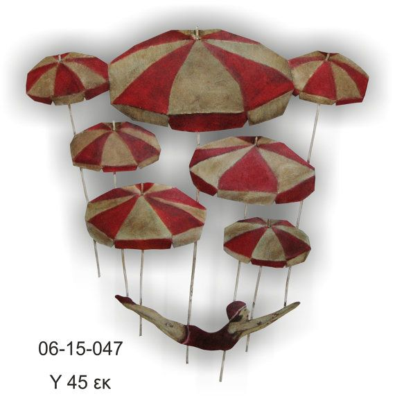 Elegant umbrellas wall art copper pinup style by homegether on Etsy