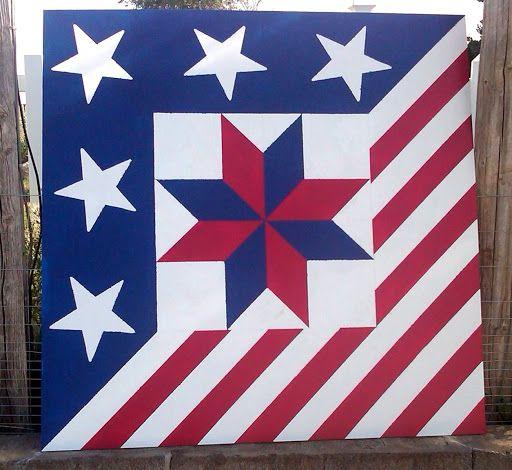 Barn Quilt 'Patriotic Star of LeMoyne'