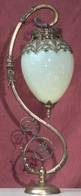 Late Victorian newel post lamp, American, ca.1880